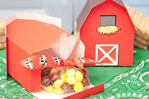 BARN Favor Box BY piggybankparties on Etsy