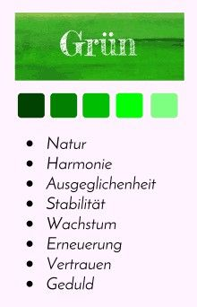 farbportr t gr n farbpsychologie farbwirkung farbtabelle farbenergie farben design grafik. Black Bedroom Furniture Sets. Home Design Ideas