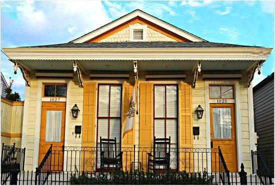 Yellow New Orleans Double In Afternoon Sun Historic New
