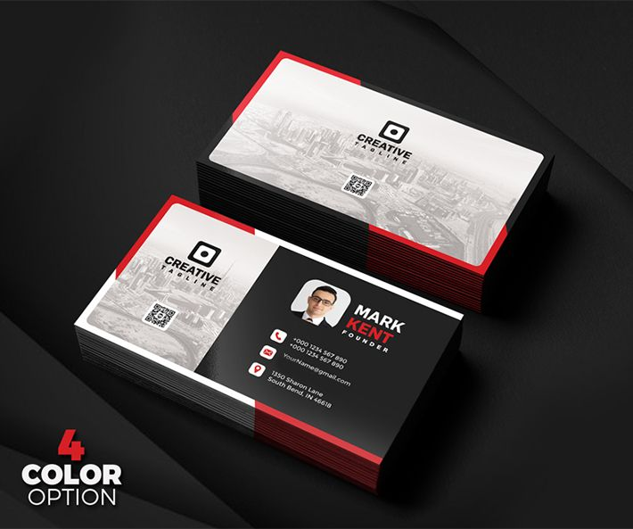 stylish business card psd template mddesign pinterest free