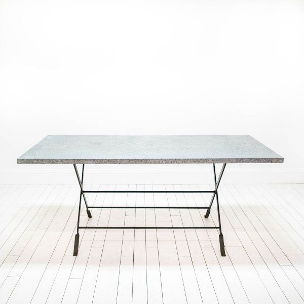 Metal Farm Table Modern Industrial Dining Table Galvanized Metal - Farm table austin