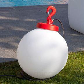 suspension ext rieure forme sph rique grumo rouge r f rence 8028070 lampes et luminaires pour. Black Bedroom Furniture Sets. Home Design Ideas