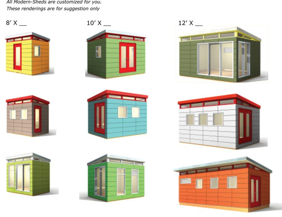 TypicalUses ModernShed Note picture i like is top row on the