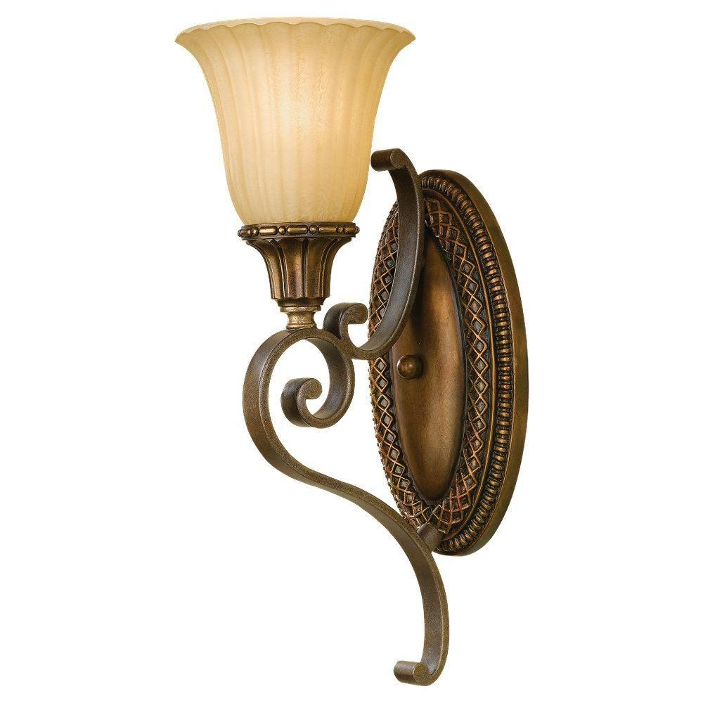 Feiss Kelham Hall Firenze Gold And British Bronze Wall Sconce Wb1418fg Brb The Home Depot In 2020 Wall Lights Gold Wall Lights Traditional Wall Lighting