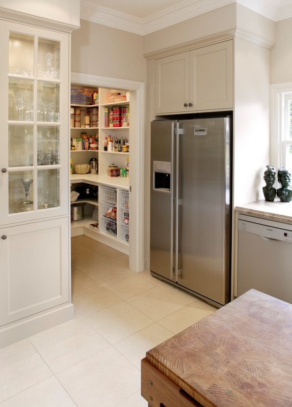 butlers pantry - view through doorway with open shelves | my dream ...