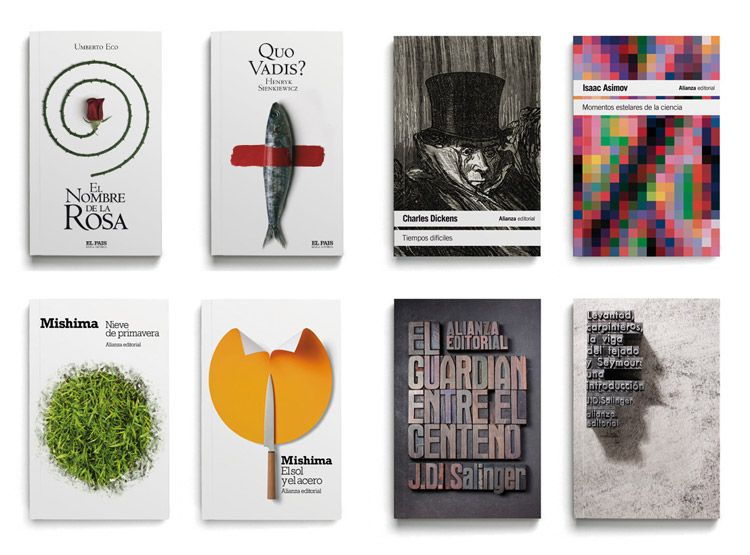 An Array Of His Different Styles Of Work These In Particular Are Book Covers Nombre Rosa Alianza Cartel