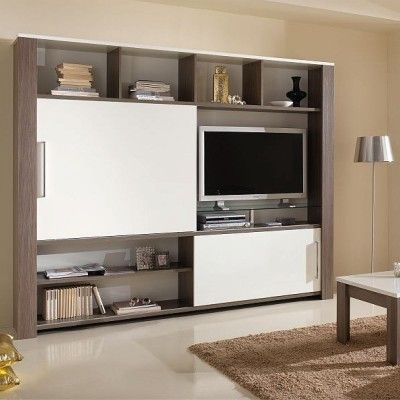 meuble mural tv design omega salons pinterest hide tv and tv units. Black Bedroom Furniture Sets. Home Design Ideas