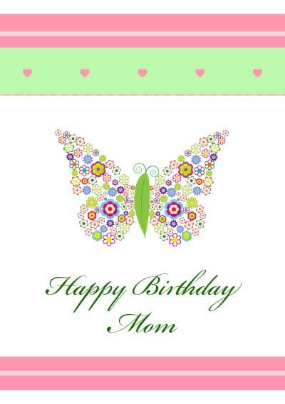 image relating to Printable Birthday Cards for Mom named Mother Birthday Playing cards -  Printable