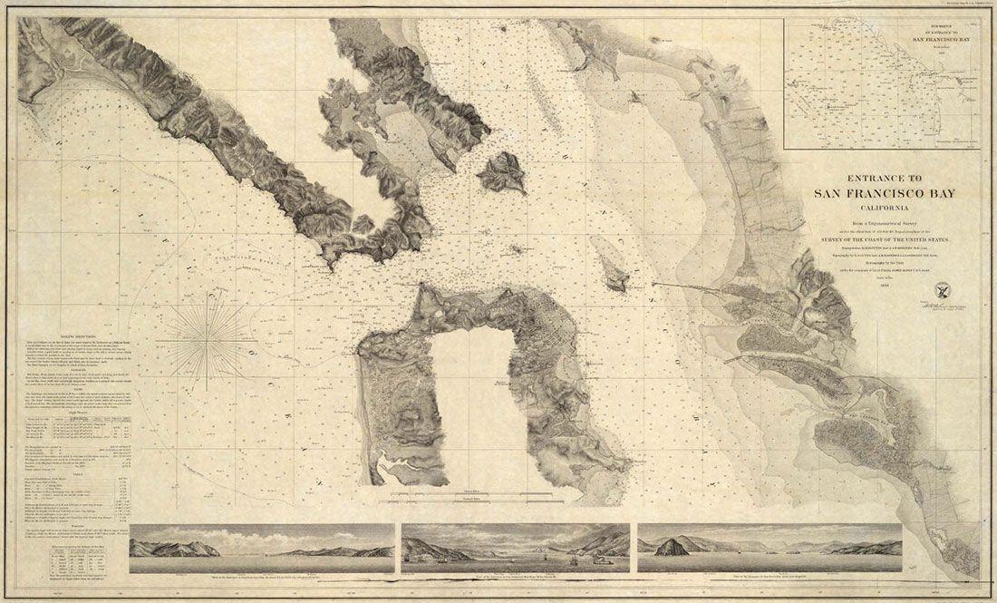 Entrance to San Francisco Bay 1859 SF et la Californie autrefois