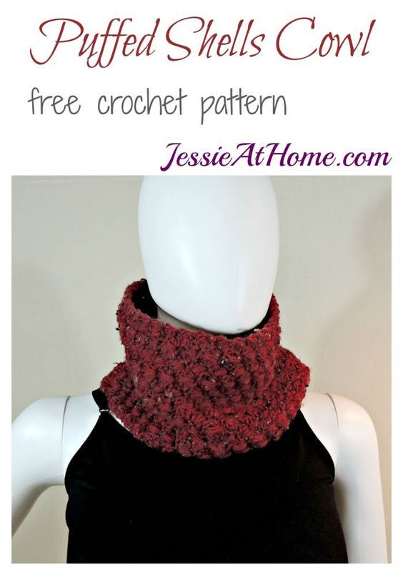 Puffed Shells Cowl - free crochet pattern by Jessie At Home ...