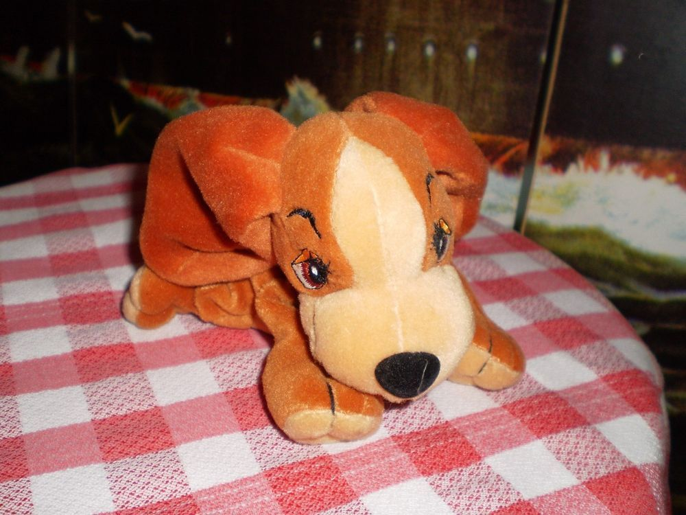 Official Disney Soft Toy Lady The Tramp Lady Bean Bag Plush Dog