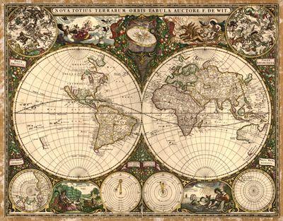 Antique world map illustrations pinterest map design antique world map gumiabroncs Gallery