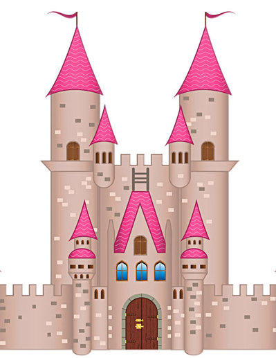 Castle transparent background. Image cutout pack large