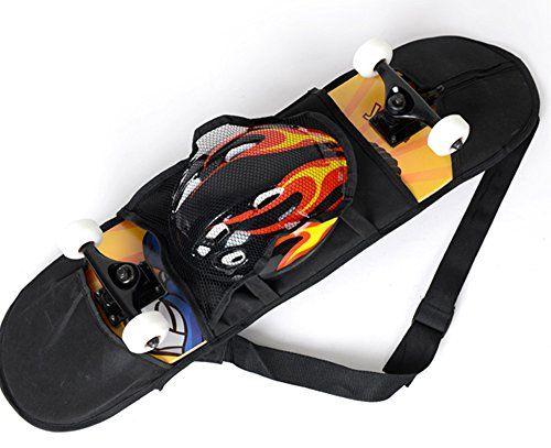 1 Skateboard Carry Bag Skate Longboard Travel Backpack Straps Carrier With Mesh