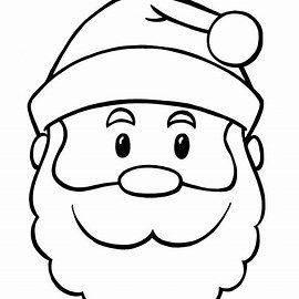 free printable santa face template  santa coloring pages christmas coloring pages santa template