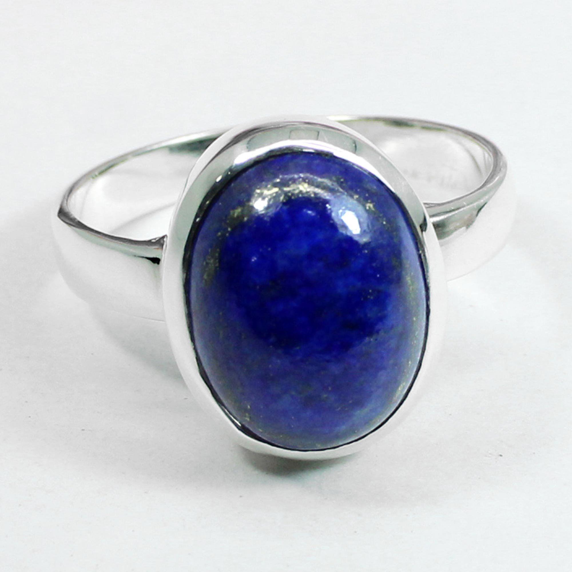 Lapis lazuli Gemstone Ring Sterling Silver Ring Rectangle Stone Designer Silver Band Lapis Silver Ring Statement Dainty,Bohemian Ring
