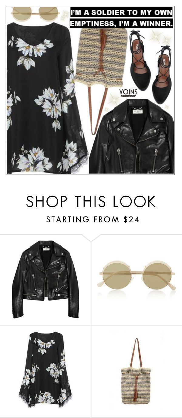 """""""Yoins"""" by teoecar ❤ liked on Polyvore featuring Yves Saint Laurent, Le Specs, yoins, yoinscollection and loveyoins"""