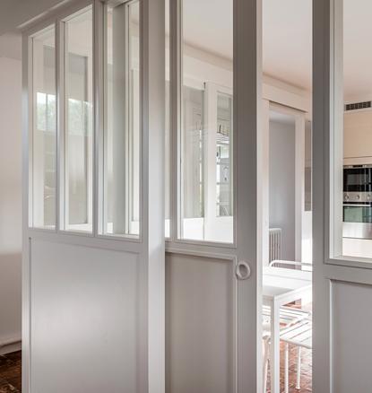 cloisonner sans isoler c 39 est possible verriere en bois cloison verriere et bois blanc. Black Bedroom Furniture Sets. Home Design Ideas