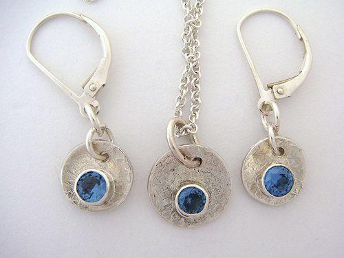 Blue Zircon necklace and earring set - scjjewelrydesign.etsy.com | Flickr - Photo Sharing!