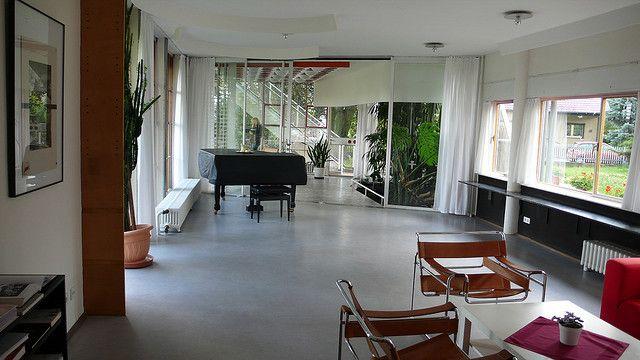 ksavienna Loebau - Scharoun - Haus Schminke (16) Haus schminke - interieur aus beton und aluminium urban wohnung