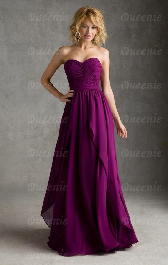 Online Vintage Long Fuchsia Bridesmaid Dress Bnnaj0049