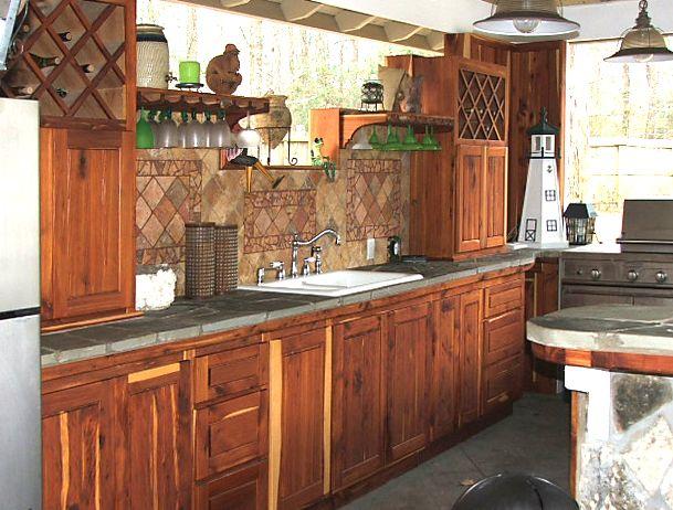 red cedar kitchen | native cedar outdoor kitchen | Kitchen ...