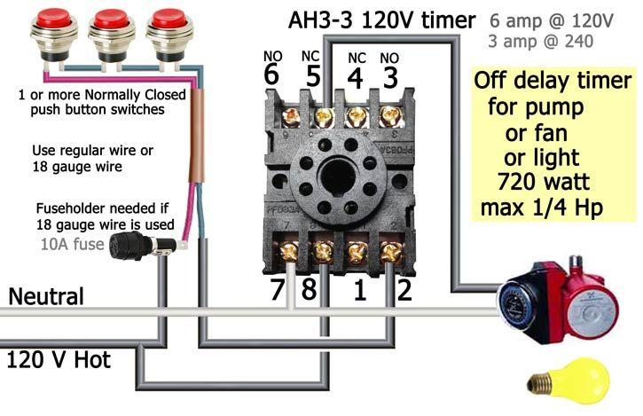 Ah3 Delay Timer Wiring With Push Button  Con Im U00e1genes