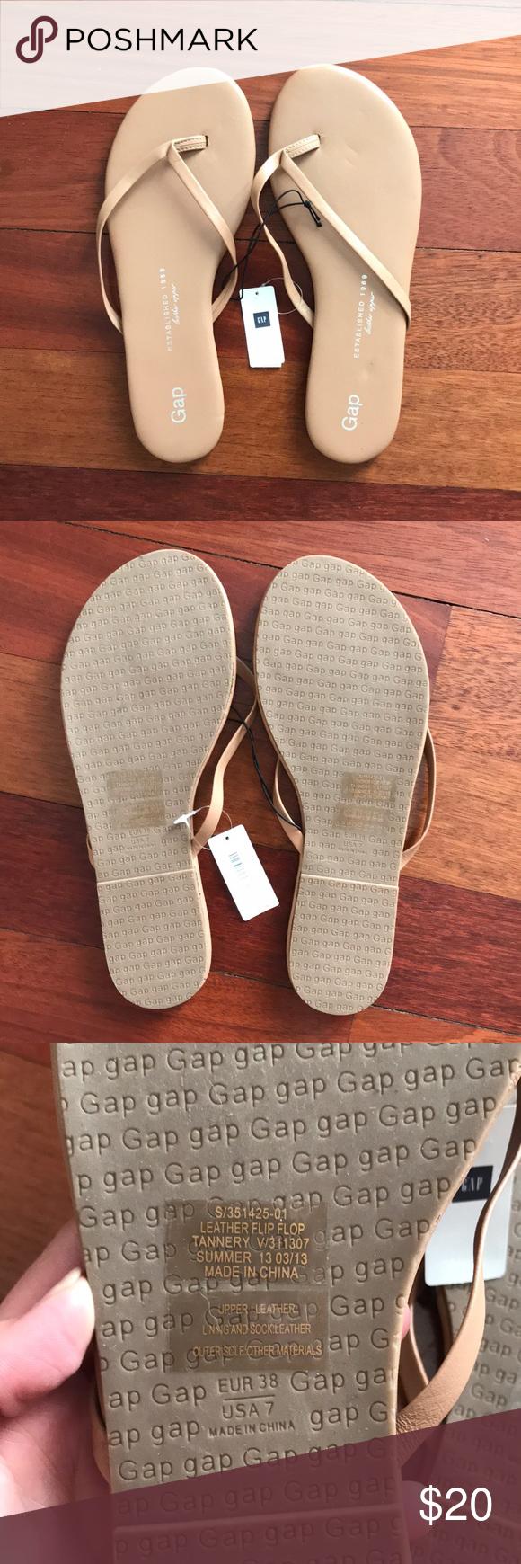 fd3d0b49e61b I just added this listing on Poshmark  ✨NWT! GAP Nude Leather Flip-Flop  Sandals - 7.  shopmycloset  poshmark  fashion  shopping  style  forsale  GAP   Shoes
