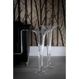 Jarr n de cristal moderno copa 60 cm jarrones decorativos for Jarrones decorativos grandes