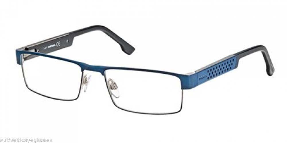 Diesel Designer Eyeglasses Blue and Black Optical Frame ...