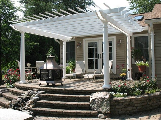 22 Awesome Pergola Patio Ideas White Pergola Backyard Patio Patio Trellis