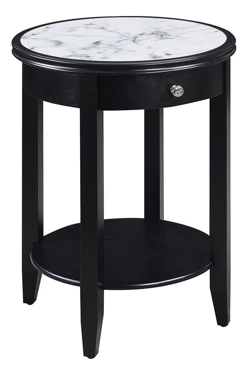 Best American Heritage Baldwin End Table W Drawer In Black 640 x 480