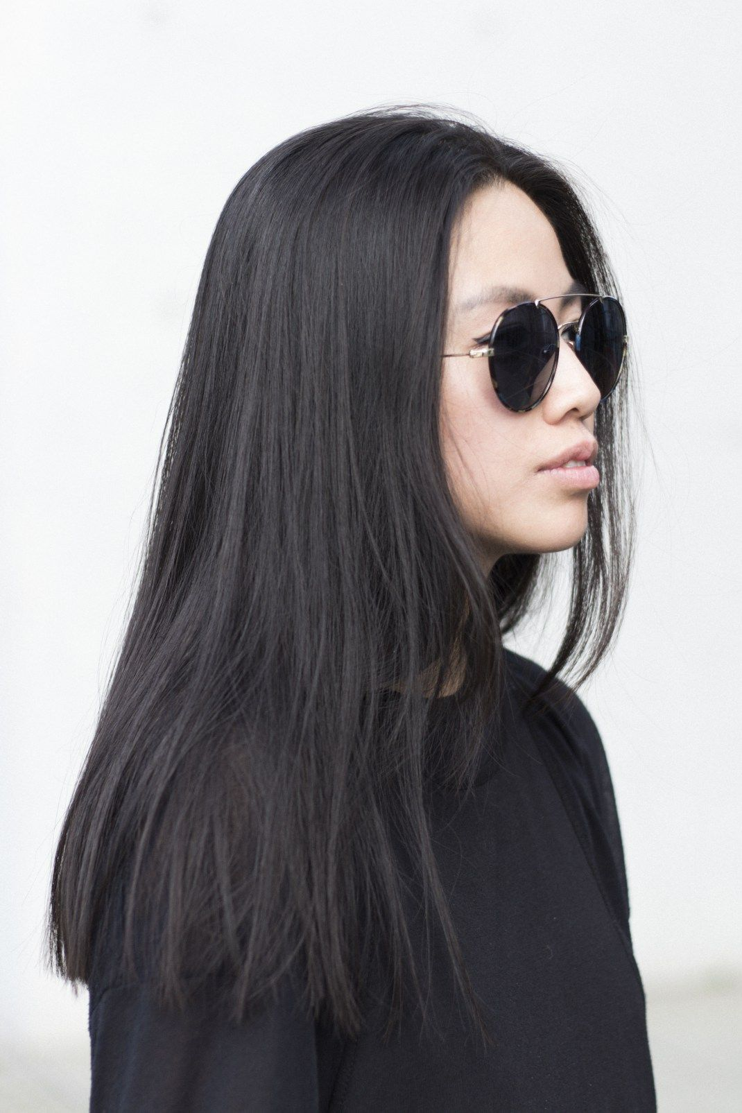 blunt cut long hair straight across long hair styles