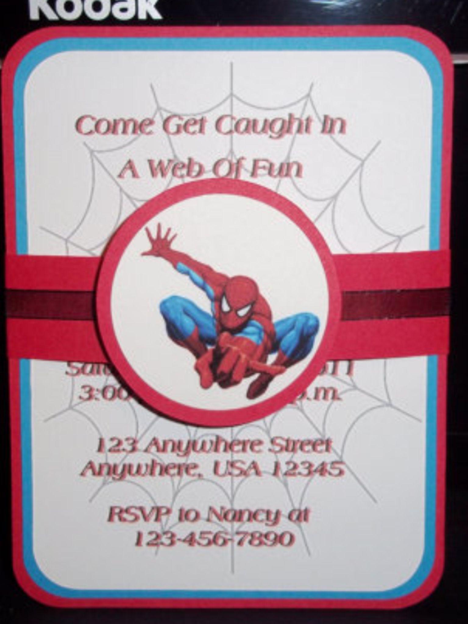 Spiderman Invite | Spidy Birthday Bash | Pinterest | Spiderman ...