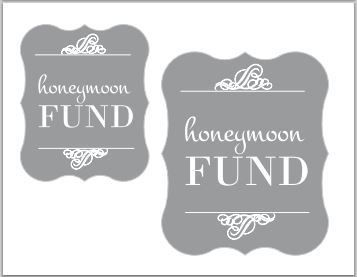 Free Wedding Printable Banners And Signs At Tatertots And Jello Wedding Printables Honeymoon Fund Sign Honeymoon Fund