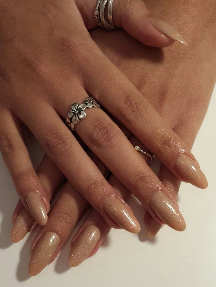Acrylic Extensions With Nude Gelish Overlays Perfect Wedding Nails Bridal Bridesmaid