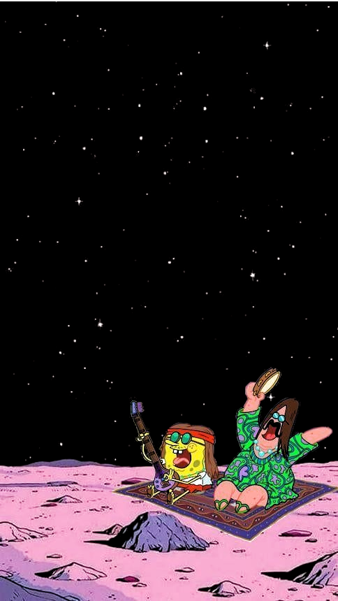 Space themed spongebob wallpaper | Smart Phone Wallpapers  # |