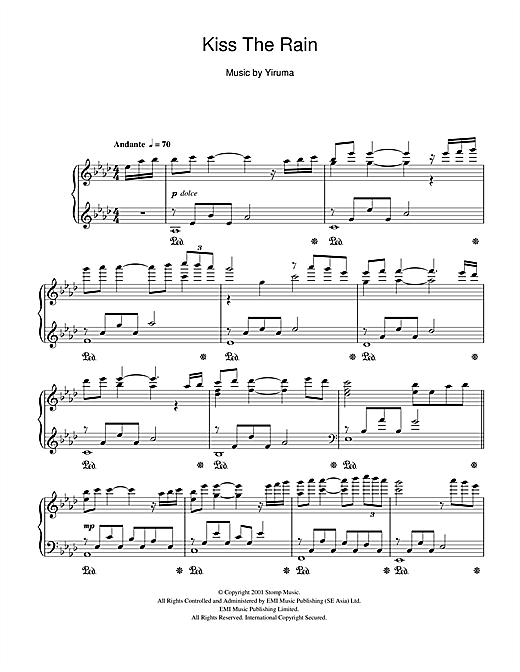 Kiss The Rain Yiruma Bucket List Pinterest Music Sheet