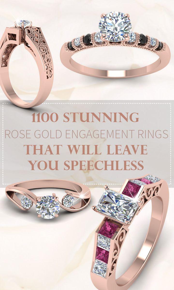 More than designs of ravishing rose gold engagement rings to