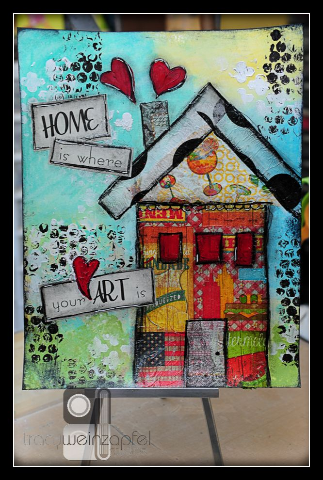 Art with Napkins....great swap #artjournalmixedmediainspiration