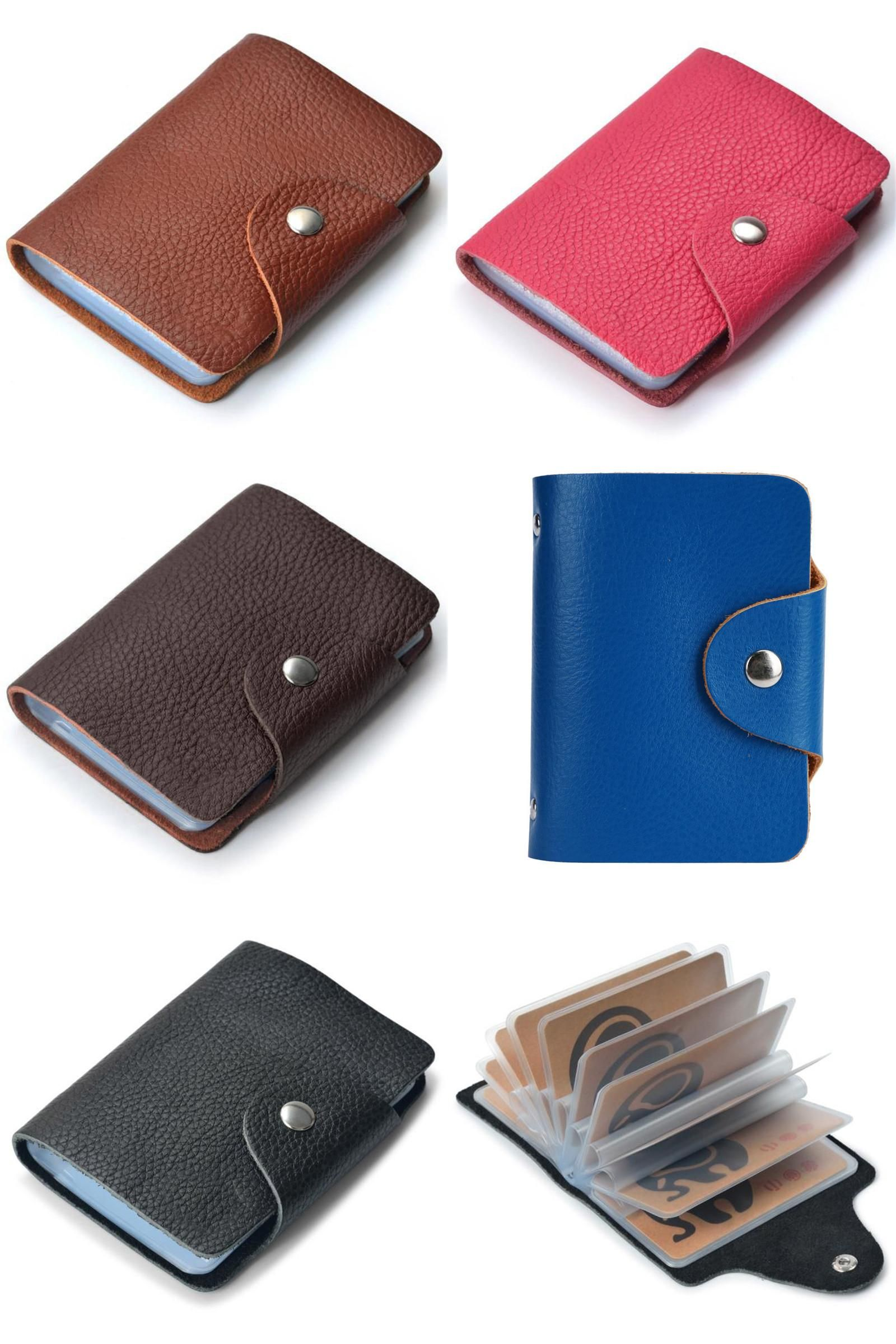visit to ] 2017 uni new fashion credit card holder leather