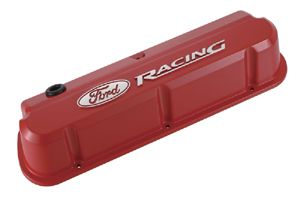 Proformparts Com Ford Racing Slant Edge Valve Covers Red With