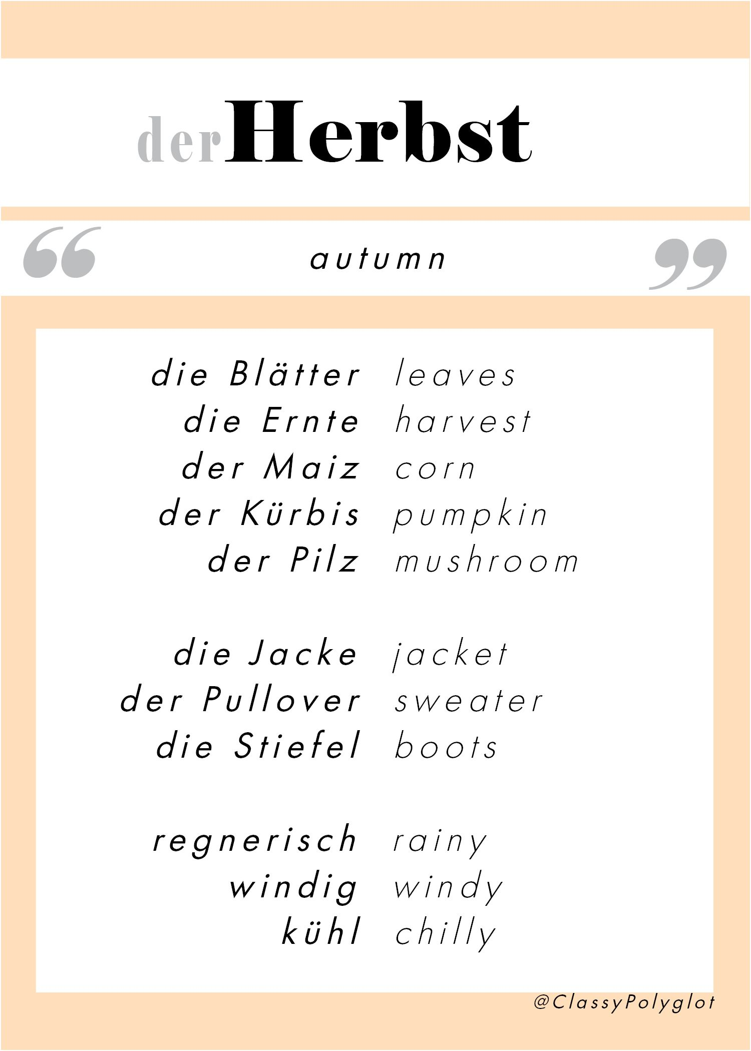 Pin By Classy Polyglot On German