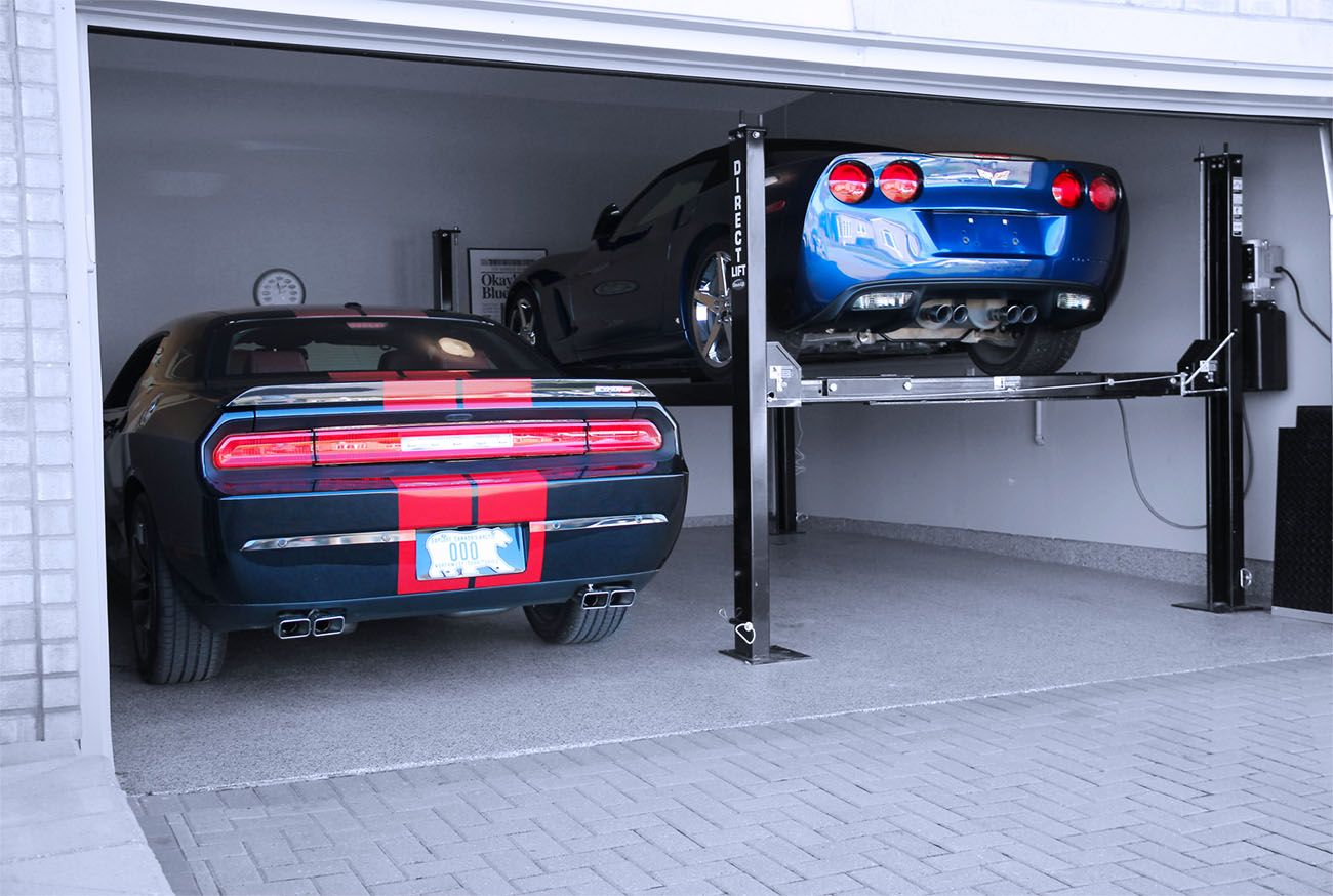 Storage Ideas 4 Post Car Lift 2