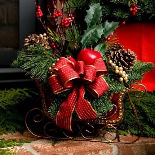 Santa s sleigh table centerpieces