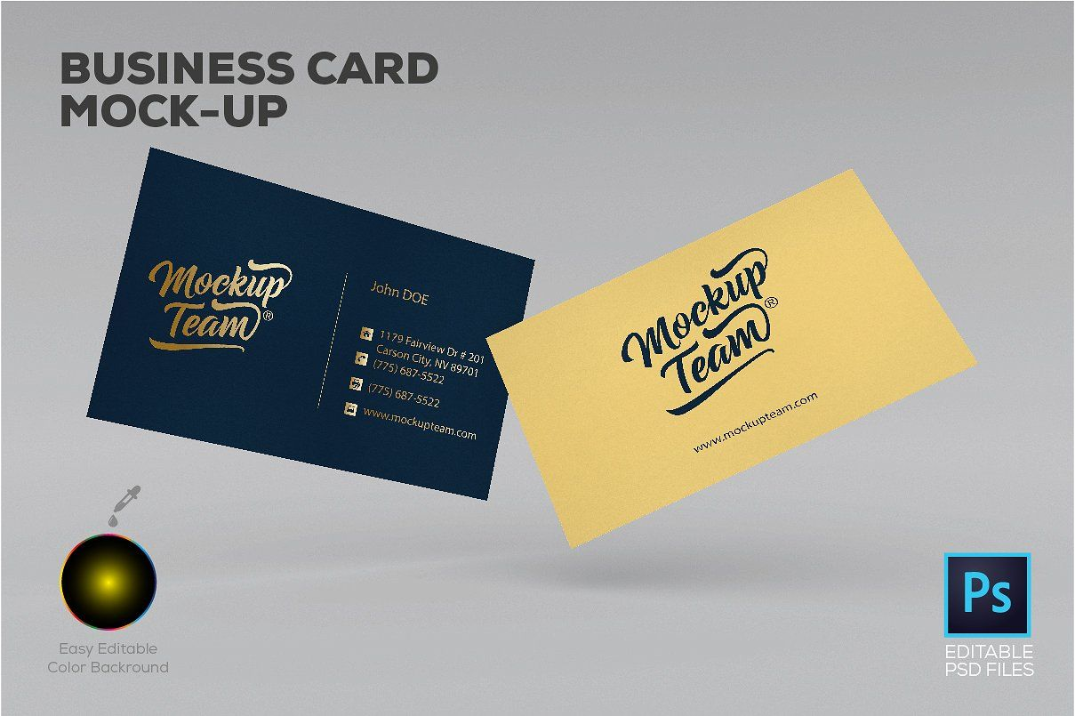 Download Business Card Mockup Free Yellowimages