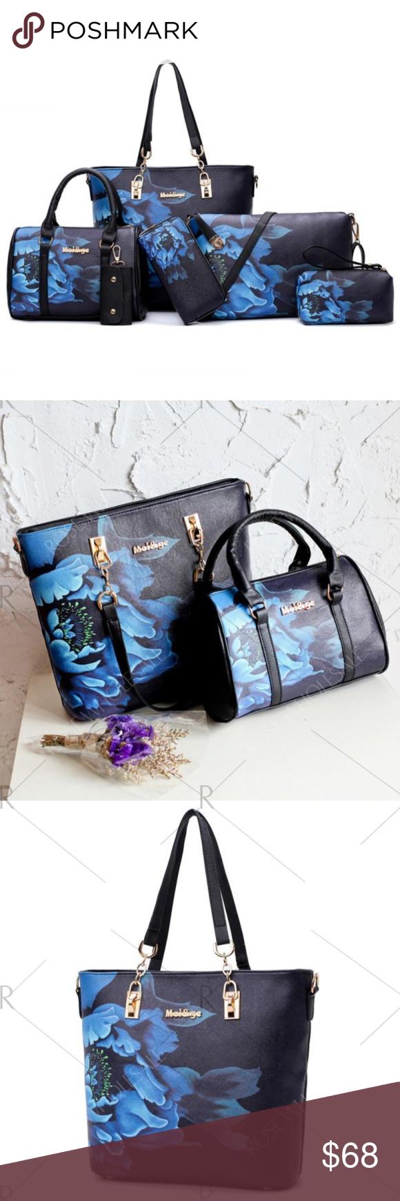 30d5893831f8 6 pieces Floral Print Bag Set Handbag Type  Shoulder bag Style  Fashion  Gender