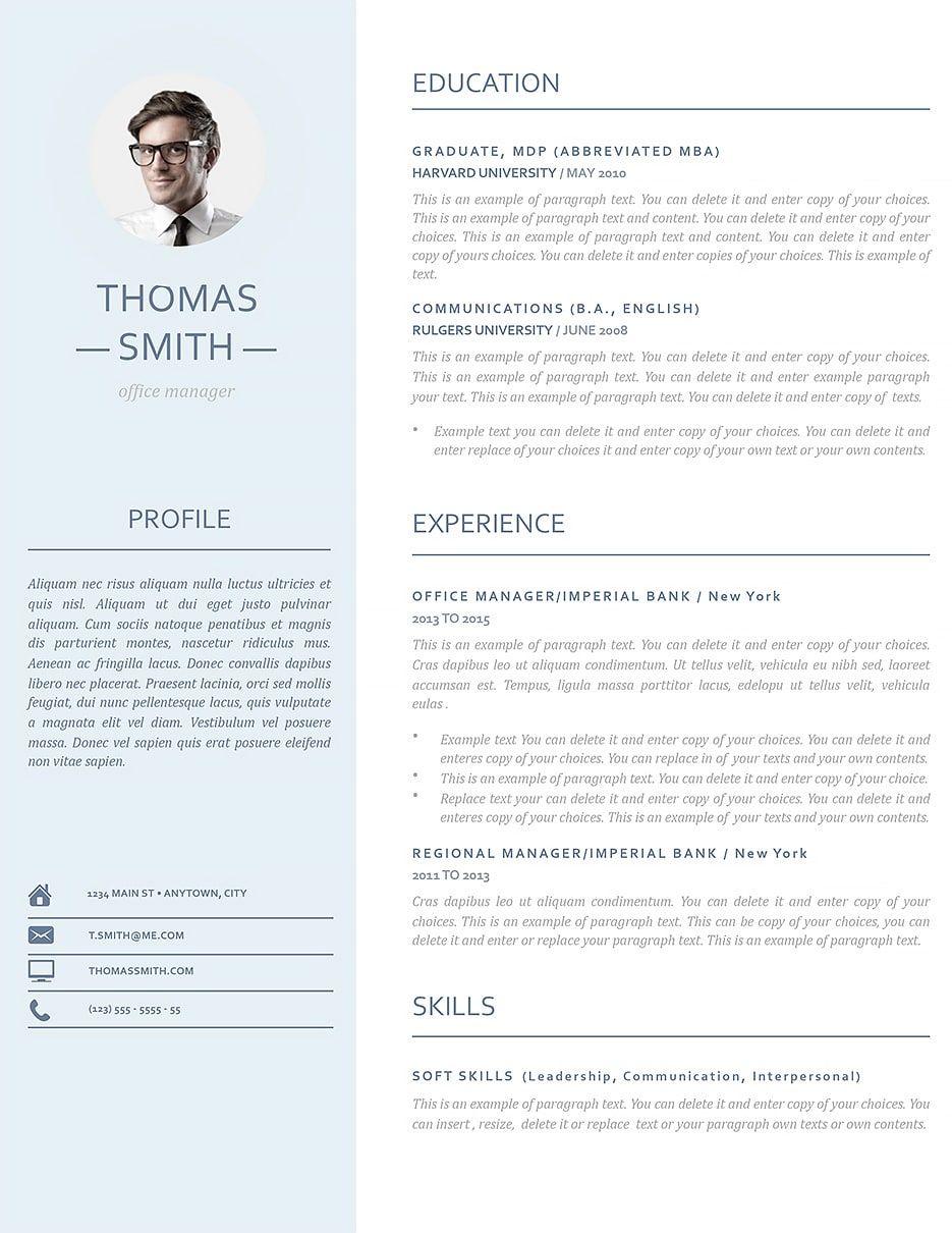 Modern Resume Template 110970 Modern resume template