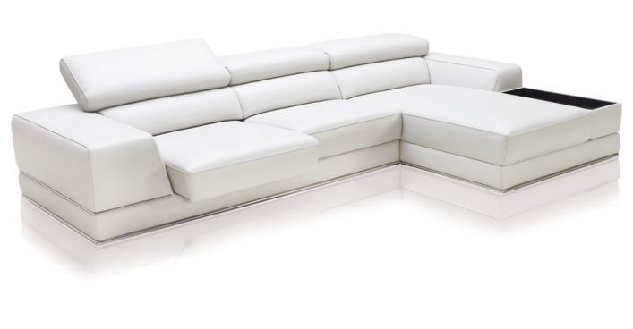Awe Inspiring Bergamo Sectional Sofa White L Residence Modern Leather Uwap Interior Chair Design Uwaporg