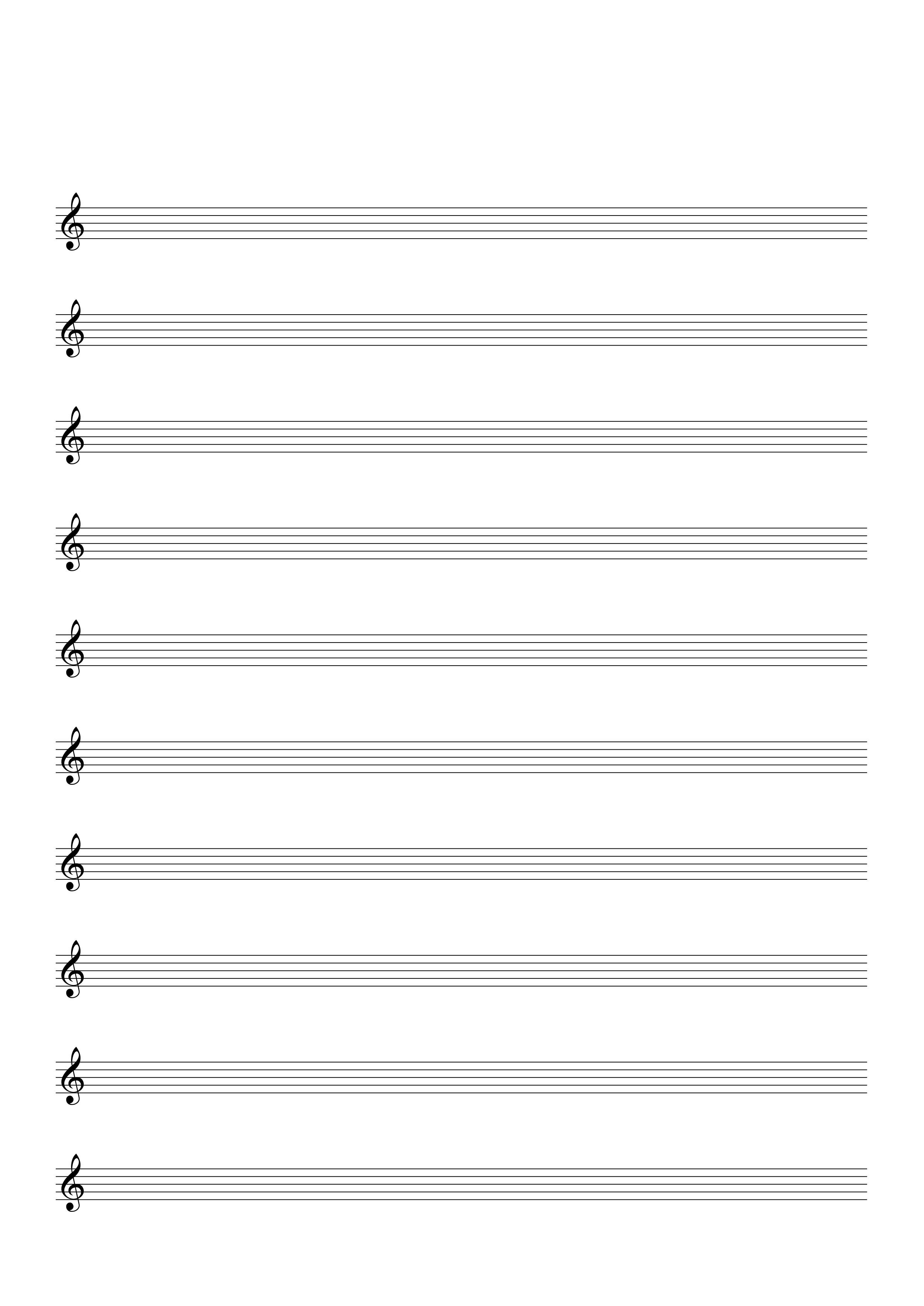 Bos Nota Ve Tab Kagitlari Muzik Ve Muzik Egitimi